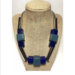 Lia Sophia Geometric bead statement necklace